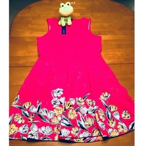 APT 9 Large NWT  Pink Floral Fit & Flare Dress